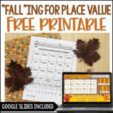 FREE Fall Math Activity - 5th Grade Place Value Activity  