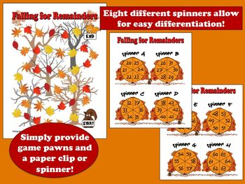 Falling for Remainders –fall-themed division math game