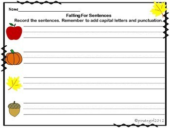 Falling for Sentences (4 types of sentences)