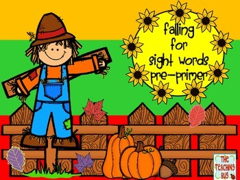 Falling for Sight Words-Pre-Primer  Free