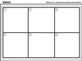 Falling for Subtraction - Subtracting Four-Digit Numbers