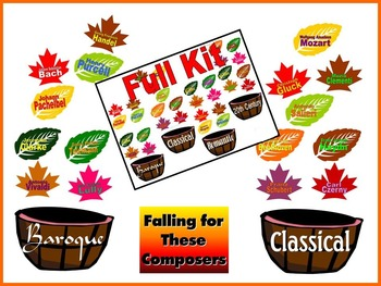 Falling for These Composers Bulletin Board for the Music Classroom