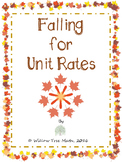 Falling for Unit Rates- Fall themed practice for 7.RP. 1.1
