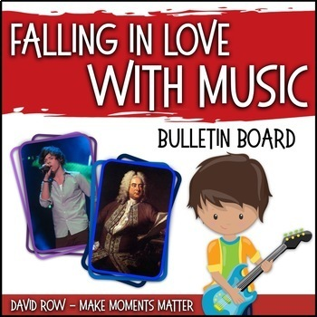 Falling in Love with Music - Musician of the Month Music Bulletin Board Set