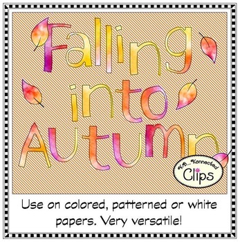 Falling into Autumn Watercolor Letters and Numbers