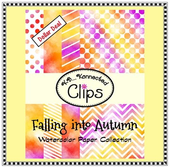 Falling into Autumn Watercolor Paper Collection