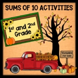 Fall Addition Activities - Find Sums of 10 - 1st and 2nd Grade