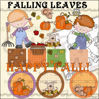 Falling leaves Autumn Clipart Collection