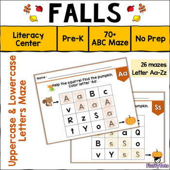 Falls ABC Letter Maze : Letter Recognition Centers for Preschool and Pre-K