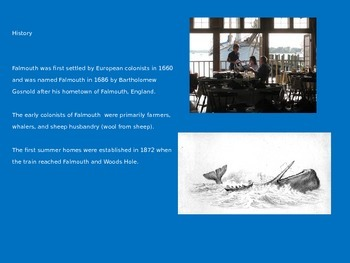 Falmouth Cape Cod - Power Point - Pictures Facts Information History Mass