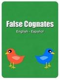 False Cognates: English - Spanish