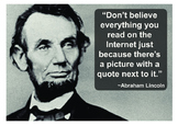False Lincoln quote A3