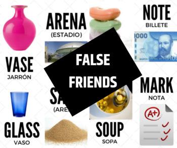 False cognates or False friends in English