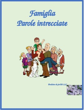 Famiglia (Family in Italian) Wordsearch for differentiated instruction