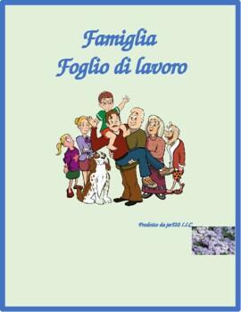 Famiglia (Family in Italian) Worksheet