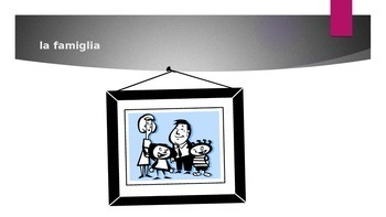 Famiglia (Family in Italian) power point