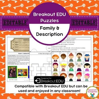 Familia (Family) & Description Breakout EDU Puzzles
