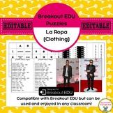 Spanish Clothing (Ropa) Breakout EDU Puzzles