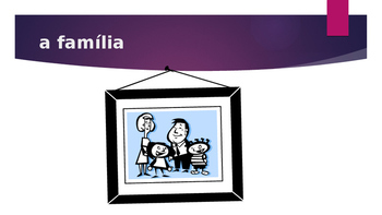 Família (Family in Portuguese) power point