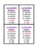 Familia (Family in Spanish) Juego de siete familias