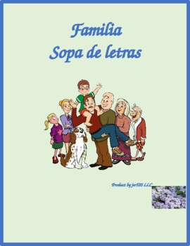 Familia (Family in Spanish) Wordsearch for Differentiated Learning