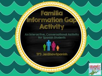 Familia Information Gap Family Info Gap Spanish Avancemos En Español Ven Conmigo