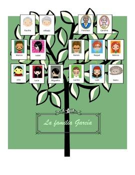 Familia Vocabulary Practice:  Family Tree Worksheet