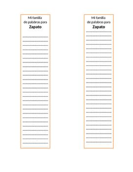 Familia de palabras/Word Families