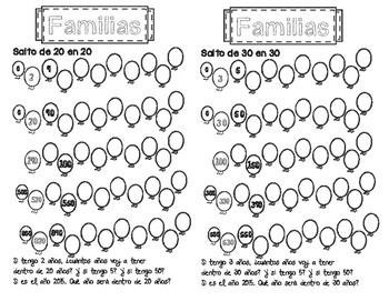 Familias de 20 en 20 y 30 en 30
