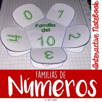 Familias de Números 10-90 Interactive Notebook - Cuaderno