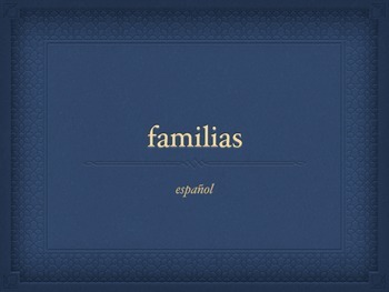 Familias para describir