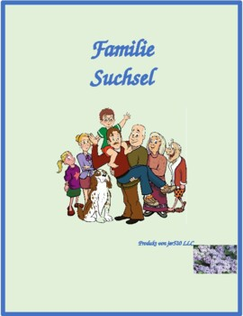Familie (Family in German) Wordsearch for differentiated instruction
