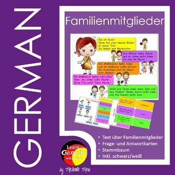 Familienmitglieder auf Deutsch - German family members