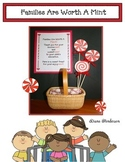 """Families Are Worth A Mint!"" Great for Open House & Parent Teacher Conferences"