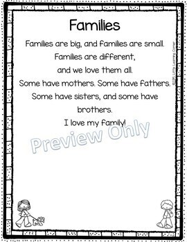 Families Back to School Poem for Kids