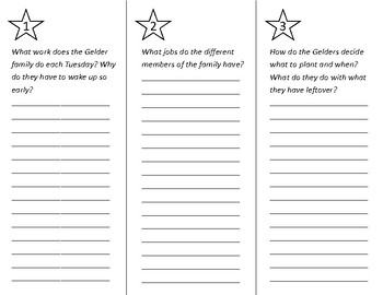 Families Working Together Trifold - Wonders 2nd Grade Unit 1 Week 5