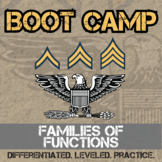 Families of Functions Boot Camp -- Differentiated Practice Assignments
