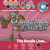 Families of Functions, Transformation & Piecewise -- Pre-Calculus Unit Bundle