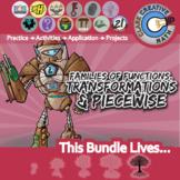 Families of Functions, Transformation & Piecewise -- Pre-Calculus Unit Bundle