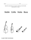 Families of the Orchestra Matching Worksheets