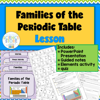 Families Of The Periodic Table Lesson By Teacher Ericas Science Store