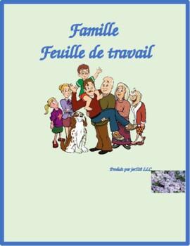 Famille (Family in French) Worksheet