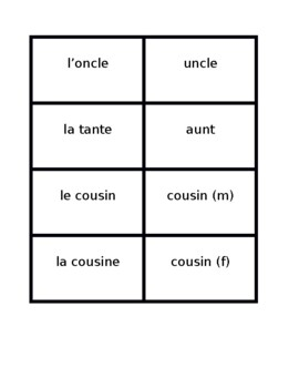 Famille (Family in French) Concentration games