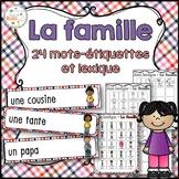 Famille - Mur de mots et lexique - Vocabulaire - French Family