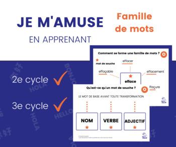 Famille de mots - 6 Affiches explicatives PPT