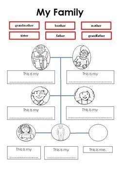 Family  (DadaAbc Homework Worksheets)