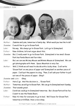 Family - A Fun Family Day - Grade 2
