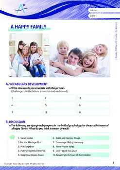 Family - A Happy Family - Grade 12