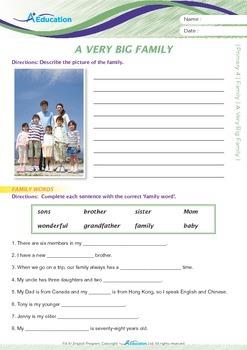 Family - A Very Big Family - Grade 4