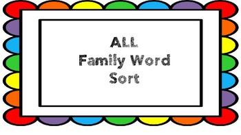 Family ALL Phonics Sort